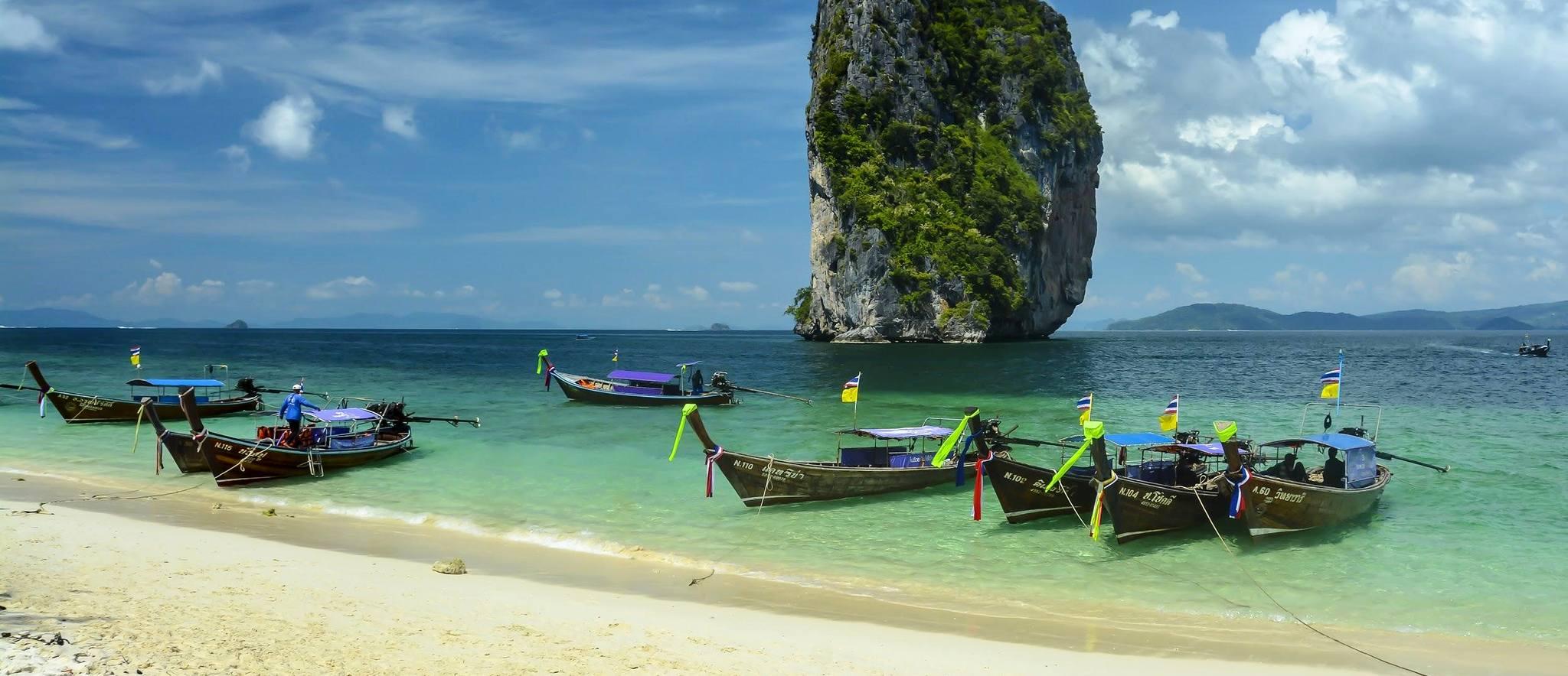 Asian beach holiday